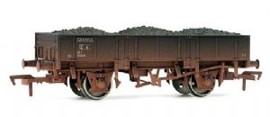 Dapol 4F-060-008 BR 'Grampus' Ballast Wagon, Black Livery, Weathered